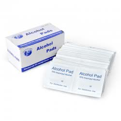 Pack de 100 lingettes nettoyantes alcool isopropyl