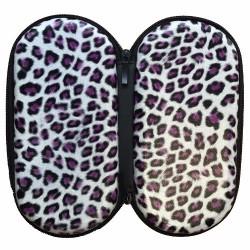 Etui zip Motif Léopard violet taille XL