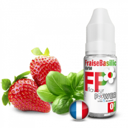 Fraise Basilic FLAVOUR POWER 10ml 50/50