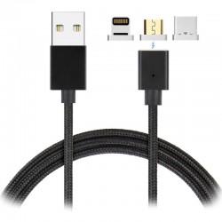 Cable usb 3en1 magnetique