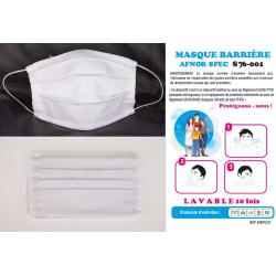 2 masques tissu réutilisable AFNOR